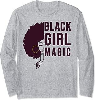 Black Girl Magic Cute Melanin Afro Queen Woman Gift Long Sleeve T-Shirt