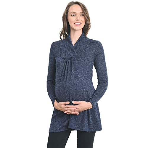 ee5c9d3dd50a Hello MIZ Women s Sweater Knit Maternity Long Sleeve Tunic Top