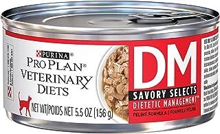 PURINA Pro Plan Veterinary Diets DM Savory Selects Dietetic Management Feline Formula Wet Cat Food - (24) 5.5 oz. Cans