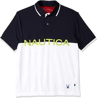 Nautica Men's Blue SAIL Logo Knockout Polo
