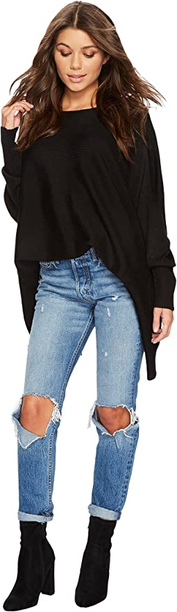 1.STATE - Ribbed Knot Back Sweater