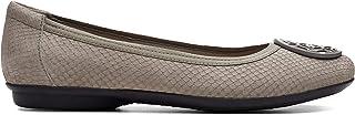 Clarks Flat Shoe for Women, Size 4 UK, Grey