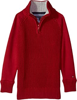 Tommy Hilfiger Kids - Raglan 1/2 Zip Sweater (Big Kids)