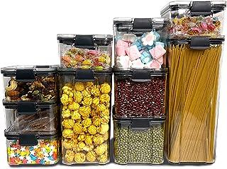 Lot de 10 boîtes de conservation en plastique - Anti-fuite - Sans BPA - Hermétique - Pour les voyages, les collations, la ...
