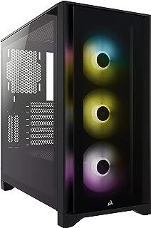 Corsair iCUE 4000X RGB Chasis ATX Semitorre con Cristal Templado, Paneles Frontal y Lateral de Cristal Templado, Espacioso...