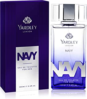 Yardley Navy Eau de Toilette, fresh marine fragrance all day long, 100 ml
