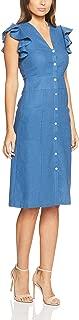 Oxford Women Taverna Linen Stud Dress, Blue