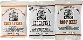 Claeys Horehound, Sassafras, and Root Beer Set 3 Pack (1 - 6oz Bag of Each)