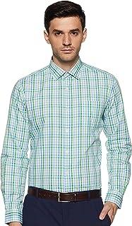 Excalibur Men's Checkered Regular fit Formal Shirt