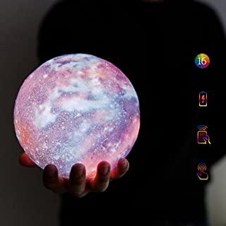 """mono living Galaxy Moon Lamp 16 Colors 3D Galaxy Moon Light 5.9"""" LED Star Light Remote Control Gift for Father's Day Siste..."""