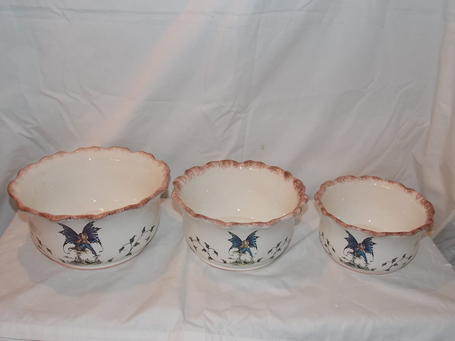 Retired Collectible Amy Brown Fairy Collection 3 Serving Piece Austin Indefinitely Mall B