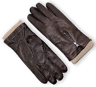 Men's Wool Lined Deerskin Leather Gloves Handsewn