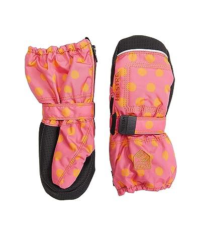 Hestra Baby Zip Long Mitt (Infant) (Pink Print) Snowboard Gloves