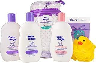 Baby Magic Sweet Dreams in A Bag (1 Ea 9oz Calming Bath, 9oz Calming Lotion, 9oz Creamy Baby Oil, Duck Pouf, Free Dream Baby Sleep E-Book & Reusable Bag)
