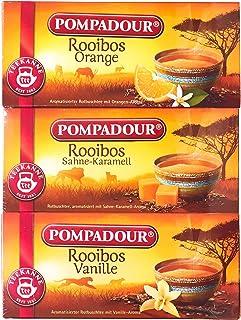 ポンパドール ルイボスティー20TB ×3種セット(105g)[オレンジ、キャラメル、バニラ] ティーバッグ