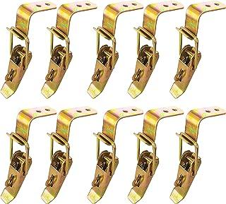 10 stuks metalen spansluitingen, verstelbare sluiting, hasp, spansluiting met haak, kniehendelspanner, roestvrijstalen slu...