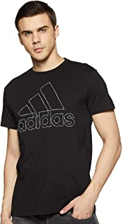 adidas Id Badge Of Sport Tee Graphic Tee (Short Sleeve) For Men, Grey, S