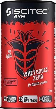 Scitec Gym WheyBro+ Zero Protein powder, fresa - 500 g