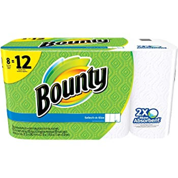 Bounty Select-A-Size Paper Towels, White, Giant Roll - 8 Pack