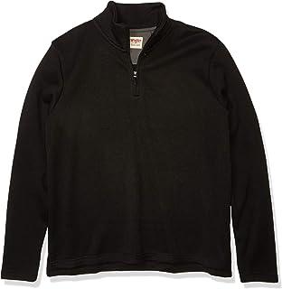 Wrangler Authentics Men's Sweater Fleece Quarter-Zip - black - XL