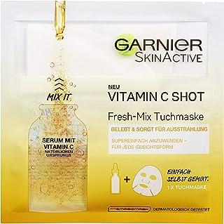 Garnier Fresh Tuchmaske Vitamine C Shot, 3er Pack 3 x 33 g