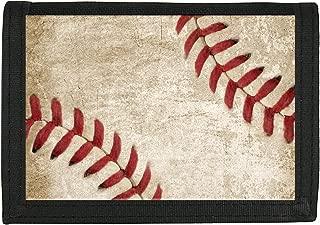 Snaptotes Baseball Casual Teen Boy Men Hook and Loop Fastener Wallet