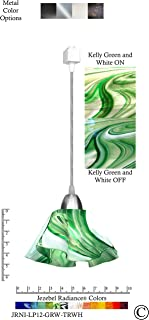 product image for Jezebel Radiance JRNI-LP12-GRW-TRNI Nickel Lily Track Light, Small, Kelly Green and White