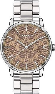 ساعة يد بمينا متعدد الالوان وسوار من الستانلس ستيل للجنسين من كوتش - 14000058