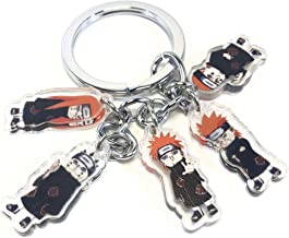 Japanese Animation series 5 characters keychain keyring holder accessories