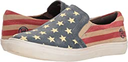 Stars & Stripes Sanded Leather