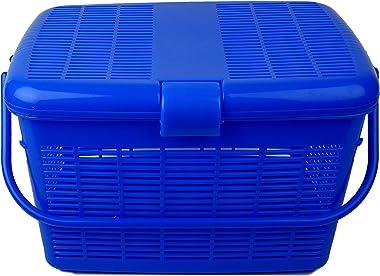 Cello MultiMate Jumbo Plastic Laundry Basket, Blue