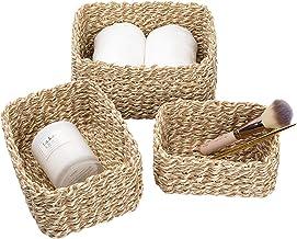 LA JOLIE MUSE Woven Storage Baskets, Recycled Paper Rope Bin Organizer Divider for Cupboards Drawer Closet Shelf Dresser, ...