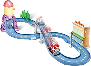 Paw Patrol Roll Patrol – Marshall's Town Rescue Track Set with Exclusive Motorized Vehicle with Lights and Sounds