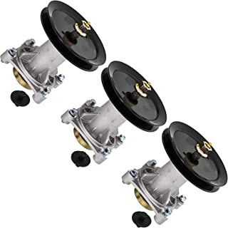 8TEN Spindle Assembly with Pulley for AYP 48 54 Inch Mower Deck PB22H48YT PB24H48YT PB22H54BF SPGT225 187292 3 Pack