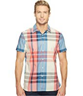 Perry Ellis - Short Sleeve Exploded Plaid Shirt