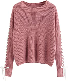 Best lace up knitted jumper Reviews