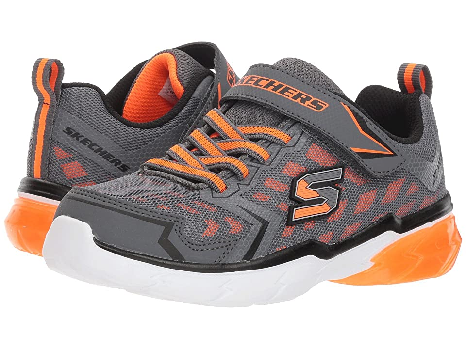 SKECHERS KIDS Thermoflux (Little Kid/Big Kid) (Charcoal/Orange) Boy
