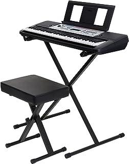 YAMAHA YPT-260 61-Key Portable Keyboard Bundle With Stand, B