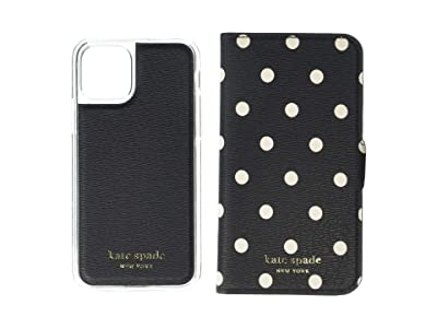 Kate Spade New York Cabana Dot Magnetic Folio for iPhone(r) 11 Pro (Black Multi) Cell Phone Case