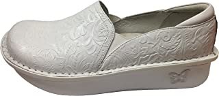 Women's Debra Exclusive Professional Shoe (37 Wide/ 7-7.5 Wide, White Tooled)