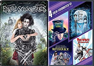 Early Faves Mind of Tim Burton Collection - Pee-Wee's Big Adventure, Beetlejuice, Corpse Bride, Edward Scissorhands, Charlie & the Chocolate Factory 5-Movie DVD Bundle