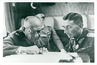 Vintage photo of Eduard Dietl in conversation with General Nikolaus von Falkenhorst