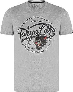 Tokyo Laundry Men's Vintage Retro Motorcycle Club Graphic Print T-Shirt
