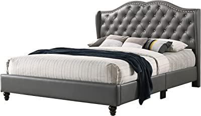 Glory Furniture Upholstered Bed Queen Gray
