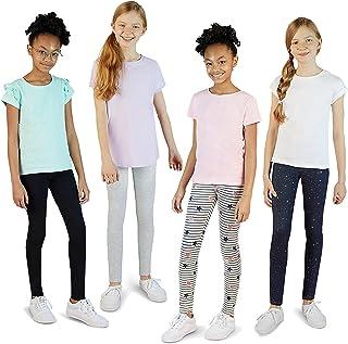 VIGOSS 4 Pack Legings for Girls |. پنبه کشش نرم و رنگها و الگوهای شیک ، جامد