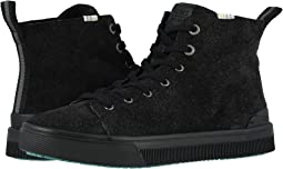 Black Shaggy Suede