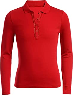 Nautica Girls' Long Sleeve Polo