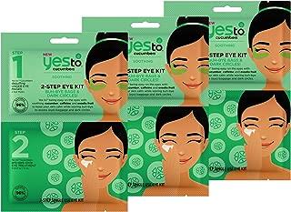 Yes To Cucumbers 2-Step Eye Kit Bundle (3 Single Use Eye Kits)