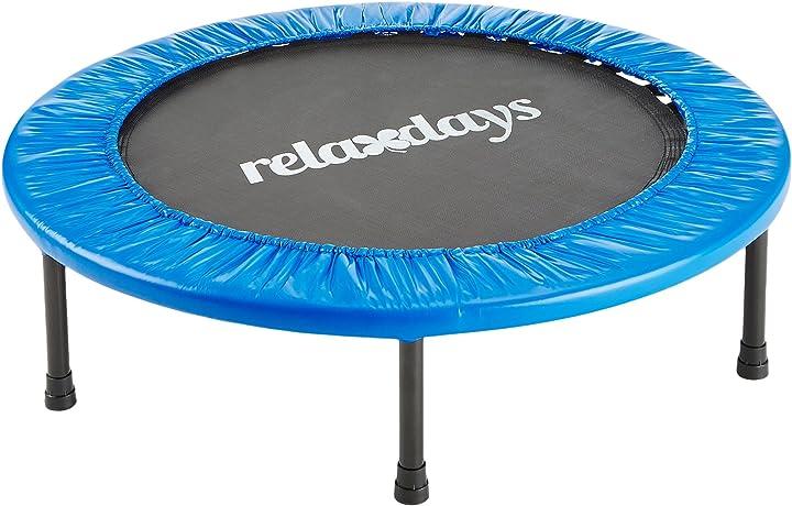 Trampolino rebounding relaxdays fitness scegliere 91 o 96 cm di diametro colore : blu 10020093_485