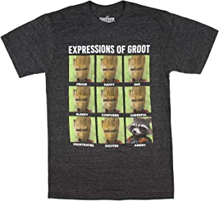 Guardians Of The Galaxy Men's Expression Of Groot Shirt Angry Rocket Variant T-Shirt